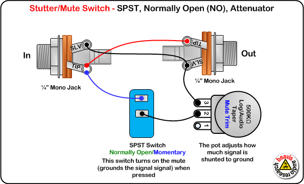mute switch, spst, normally open with attenuator wiring diagram