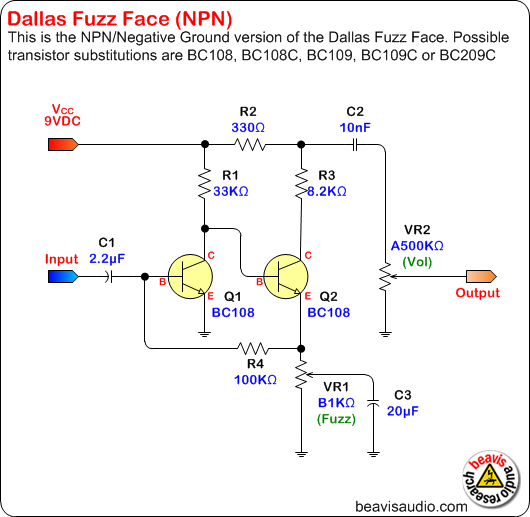 fuzz face npn and pnp making modding discussions on thefretboard dallas fuzzface npn schematic png