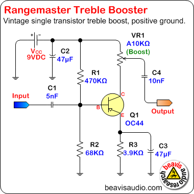 beavis audio research - stompbox schematics on vintage hofner guitar schematic, bk drive pedal schematic, treble booster schematic, klon centaur schematic, dyson schematic,