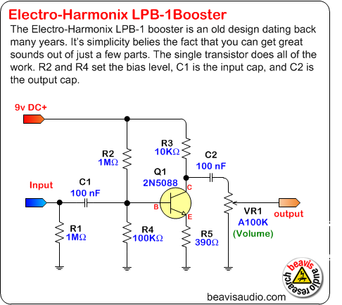 clean boost pedal rh diystompboxes com 120V Electrical Switch Wiring Diagrams Casablanca Fan Switch Wiring Diagram